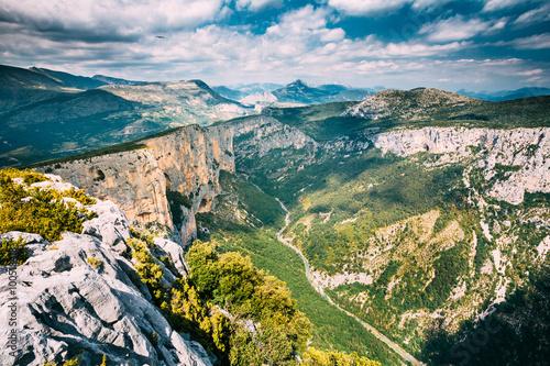Obraz na plátne Beautiful landscape of the Gorges Du Verdon in France