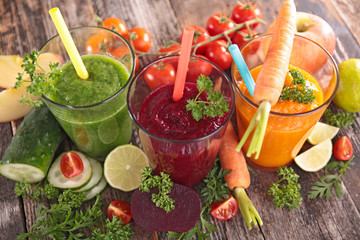 Fototapeta detox vegetable juice