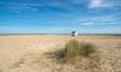 Beach Hut on a Sandy Beach
