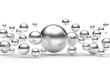 Abstrakcja srebrne kulki