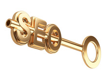 Seo Concept With Gold Key