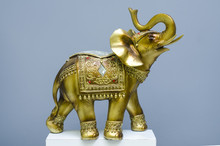 Golden Statue Of An Elephant