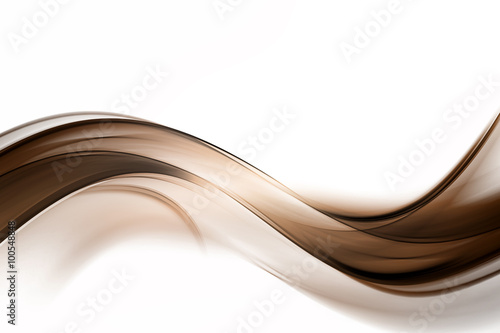 Staande foto Fractal waves Abstract Brown Wave Design Background
