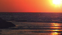 Royalty Free Stock Video Footage Panorama Of Sunset At Dor Beach Shot In Israel At 4k With Red.