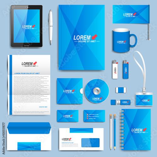 Blue set of vector corporate identity templates modern business blue set of vector corporate identity templates modern business stationery design wajeb Choice Image