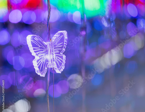 Fotobehang Natuur butterfly crystal and abstract light bokeh