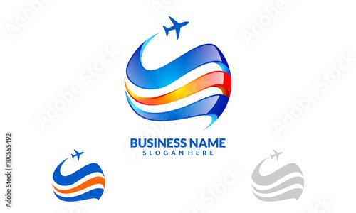 Global Travel And Tour Vector Logo Design 2