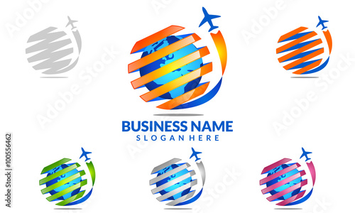 Global Travel And Tour Vector Logo Design 1