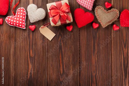 Fényképezés Valentines day background with hearts