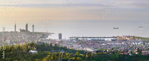 Spoed Foto op Canvas Oceanië Batumi sea port panorama, Georgia