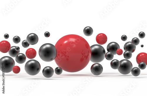 abstrakcyjne-czerwono-czarne-kulki