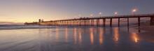 Oceanside Pier At Sunset, Cali...