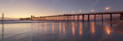 Obraz na płótnie Oceanside Pier at Sunset, California