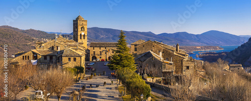 Ainsa- authentic mountain village in Aragon mountains, Spain Wallpaper Mural