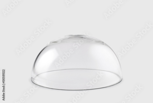 Fotomural Empty transparent glass dome