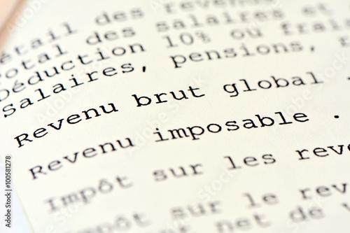 Impots Sur Le Revenu Revenu Brut Globale Imposable Buy