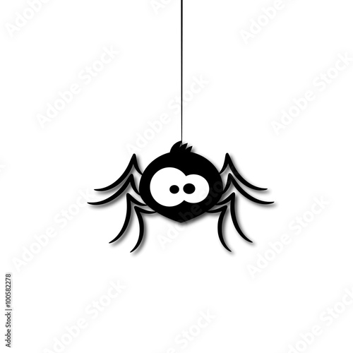 Papel de parede funny spider cartoon