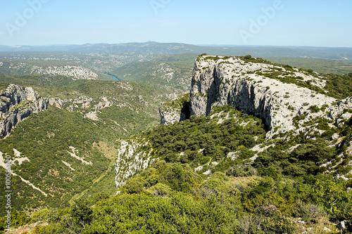 Fotografía  Pic et vue sur l'arrière pays en Hérault, Francia
