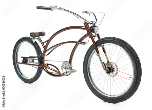Fotobehang Fiets Retro styled bicycle isolated on a white