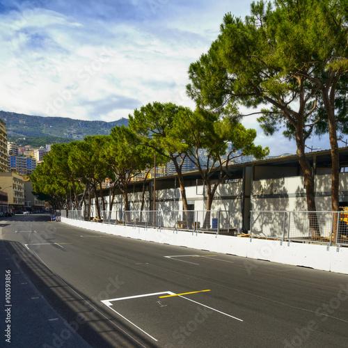 Fotografía  Parrilla de salida asfalto carrera de Mónaco circuito de Gran Premio