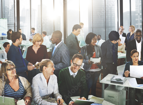 Business People Office Working Discussion Team Concept - 100594426