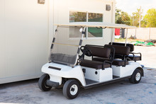Golf Car With Backseat On Loca...