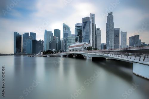 Photo  Jubilee Bridge Singapore