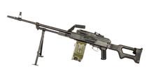 PKM Machine Gun On A White Background.russian Weapon