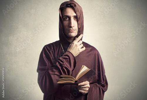 Obraz na plátně young friar praying