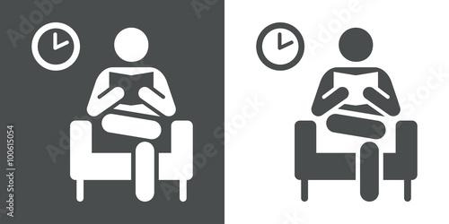 Icono plano sala de espera