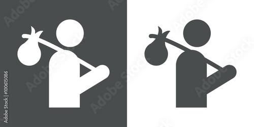 Obraz na płótnie Icono plano vagabundo #1