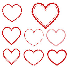 Collection Of Heart Frames - Vector