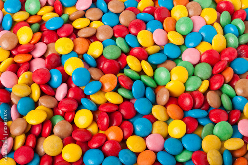 Poster Confiserie multicolored sweets for background