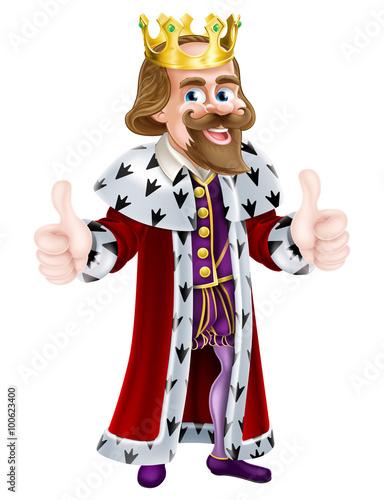 Fotografie, Obraz  King Cartoon Mascot