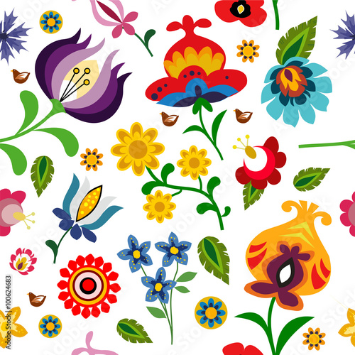 tradycyjny-polski-folk-kwiatow