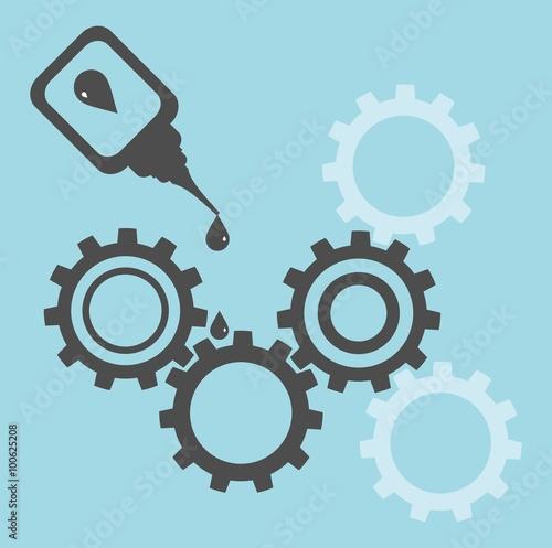 Fotografía  Repair of equipment. Oilcan lubricating gears