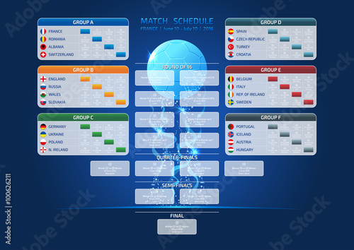 Match schedule, template Canvas Print