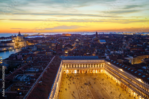 Aerial view of Venice, Italy Canvas
