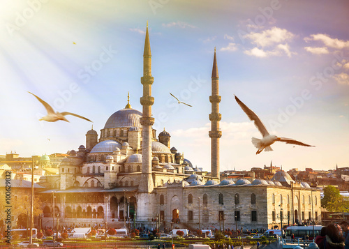 Aluminium Prints Turkey Istanbul the capital of Turkey, eastern tourist city.
