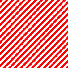 Diagonal Stripe Red-white Patt...