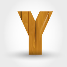 Wood Letter Y