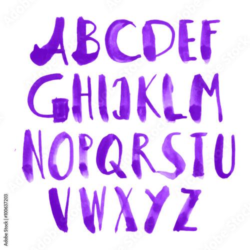 Watercolor Alphabet Letters Hand Painted Alphabet Watercolor Abcs