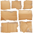 canvas print picture - Set of pieces of cardboard