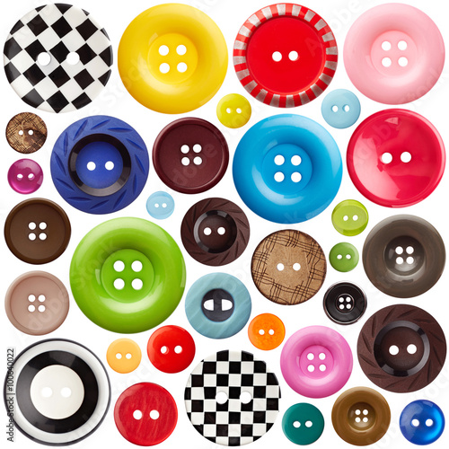 Photo sur Aluminium Macarons Set of sewing buttons