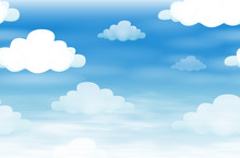 Seamless Background With Cloud...