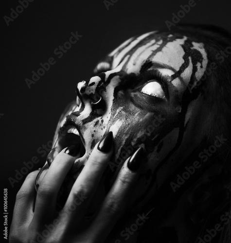 Tableau sur Toile Studio demon.Art femme shot.Goth fille