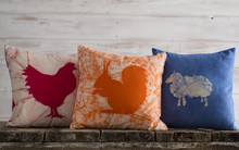 Throw Pillow Set With Farm Ani...