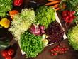Salat und Gemüsekiste