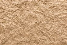 Background And Texture Of Brown Wrinkled Paper