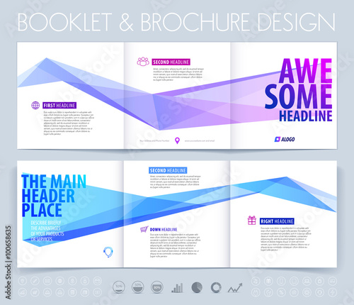 business brochure flyer and booklet design layout template buy